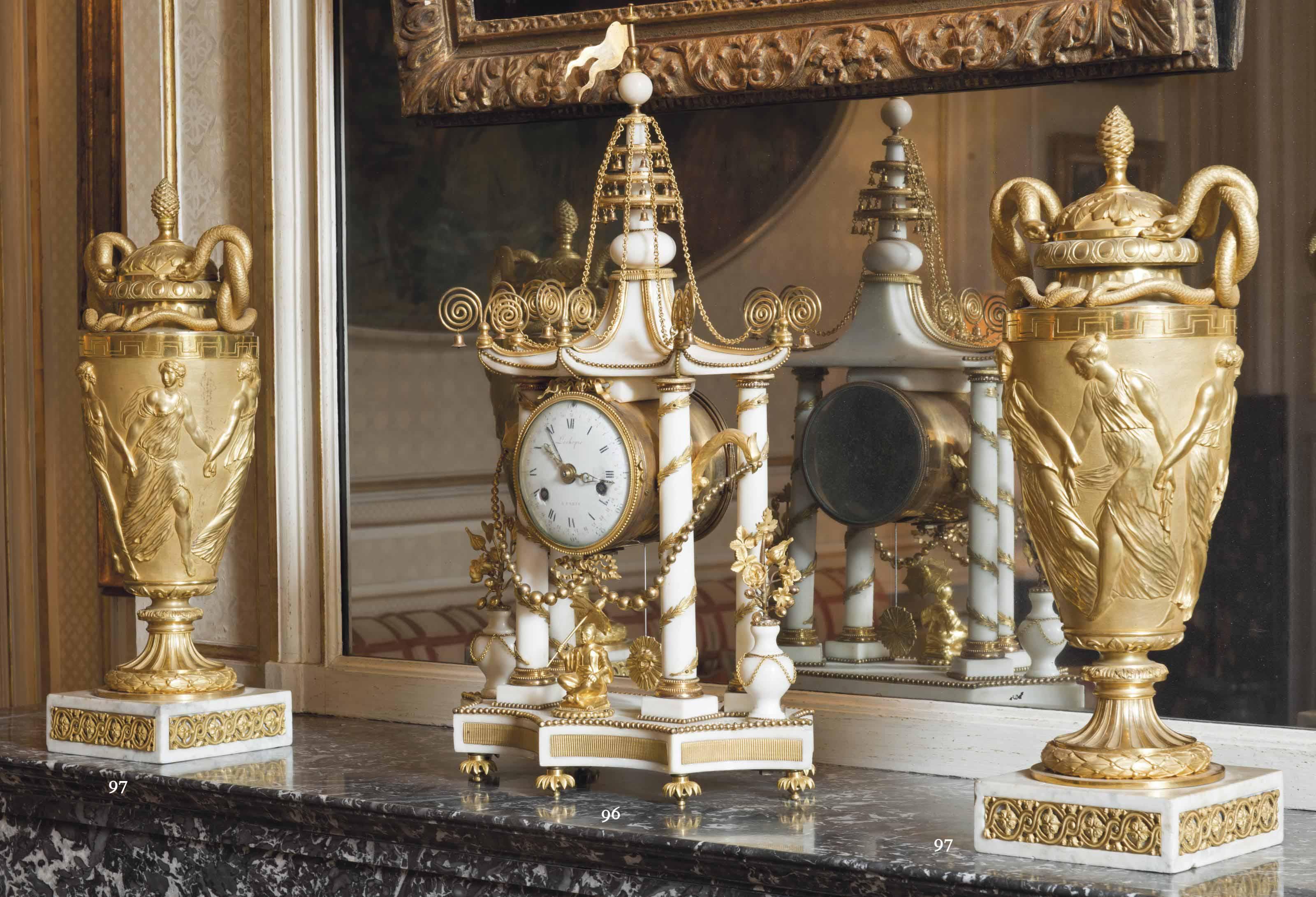 pendule a la pagode d 39 epoque louis xvi signature d 39 adam lechopie vers 1780 christie 39 s. Black Bedroom Furniture Sets. Home Design Ideas