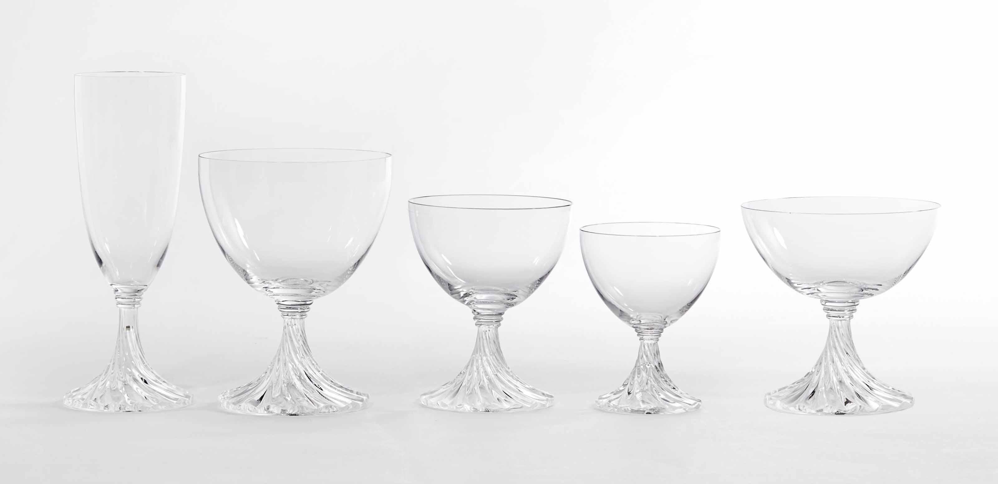 partie de service de verres en cristal graves lalique france christie 39 s. Black Bedroom Furniture Sets. Home Design Ideas