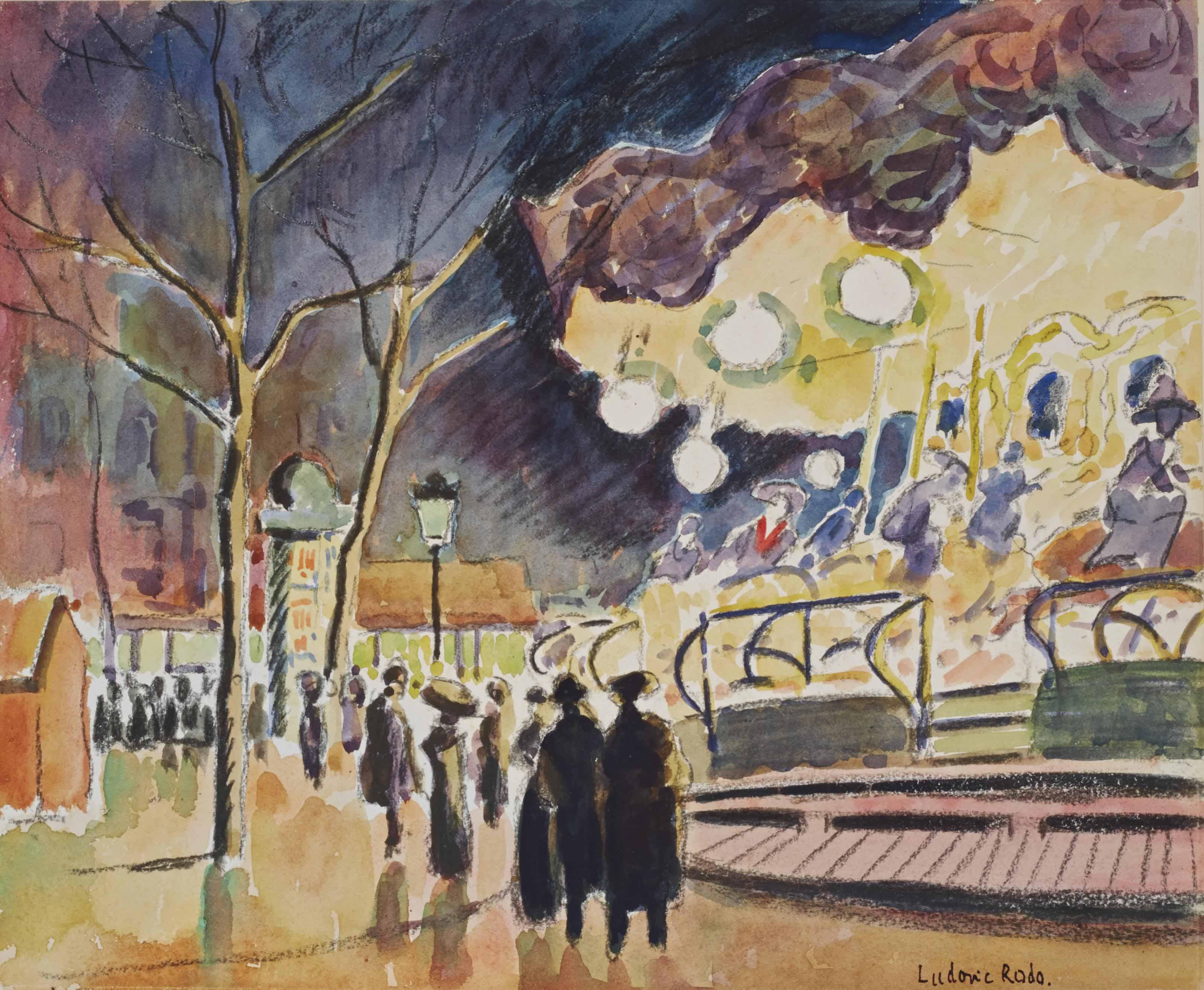 La foire à Montmartre, place Pigalle