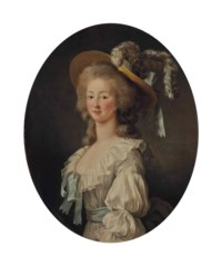 Portrait de Marie-Thérèse-Louise de Savoie Carignan (1749-1792), princesse de Lamballe