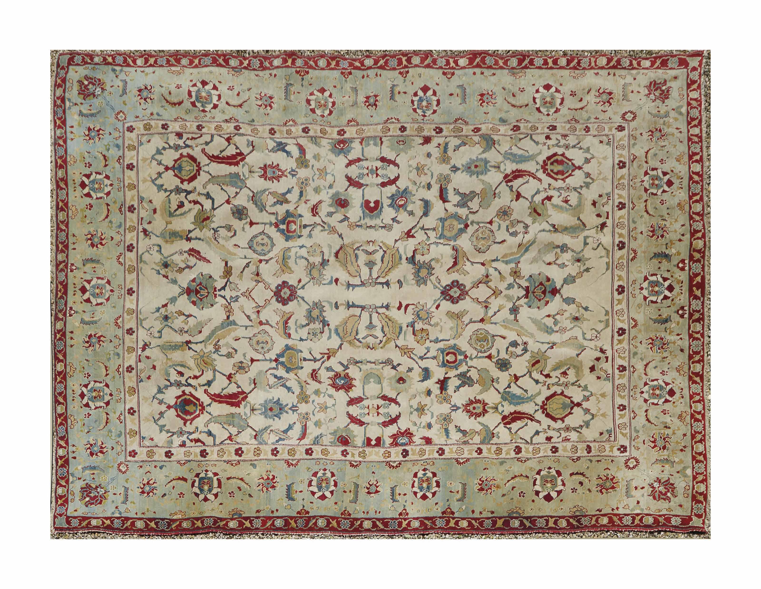 Tapis Agra Inde Du Nord Vers 1880 Furniture Lighting India