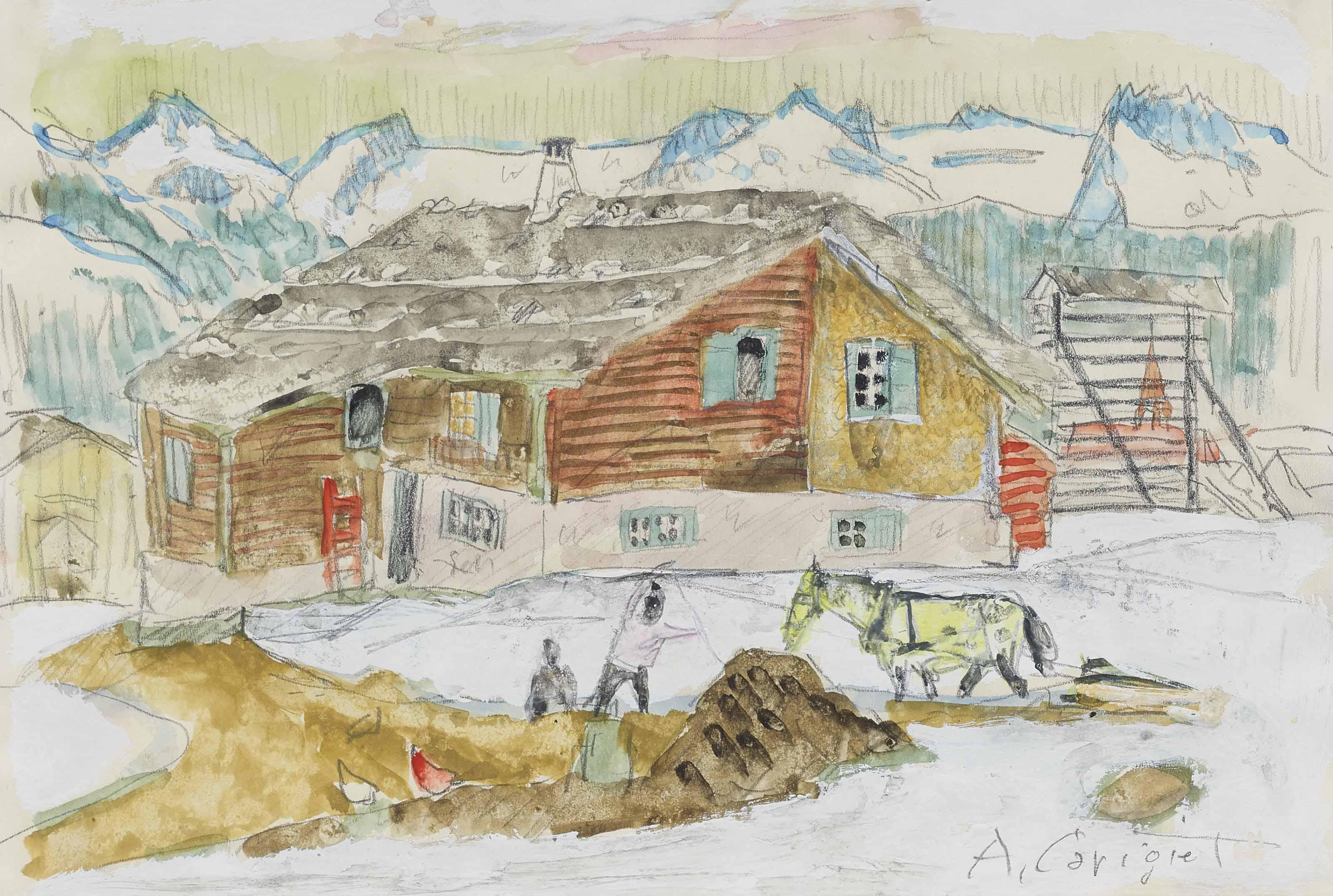 Bauerngehöft, um 1948