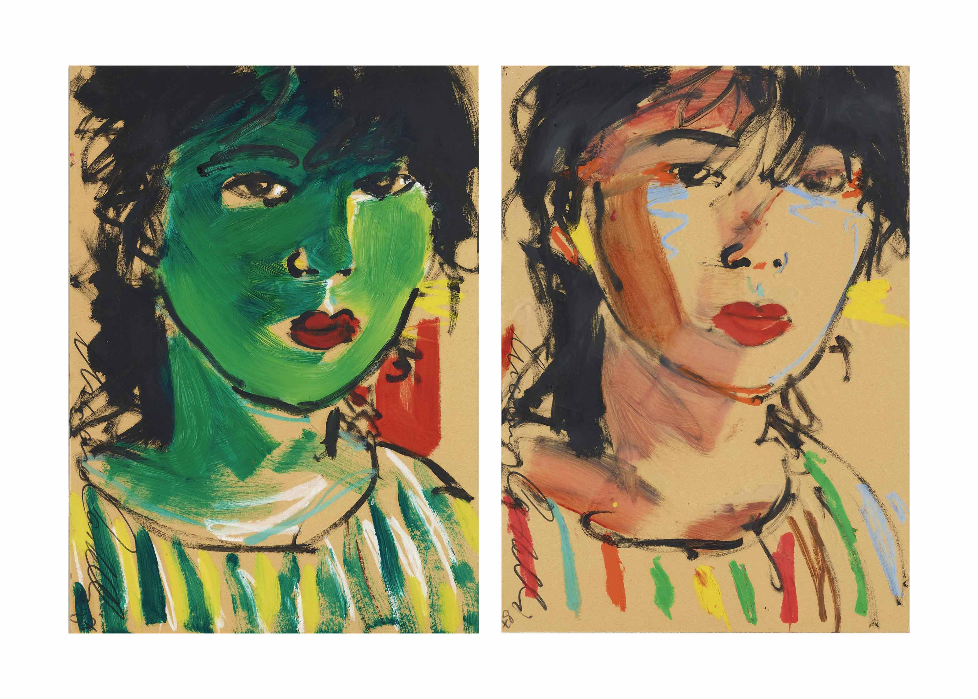 2 Frauenportraits, 1987