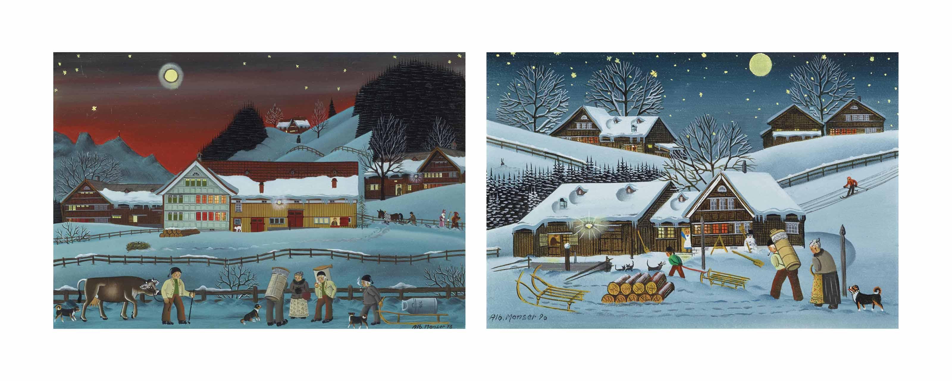 Winterabend 1978 / Winterabend 1990