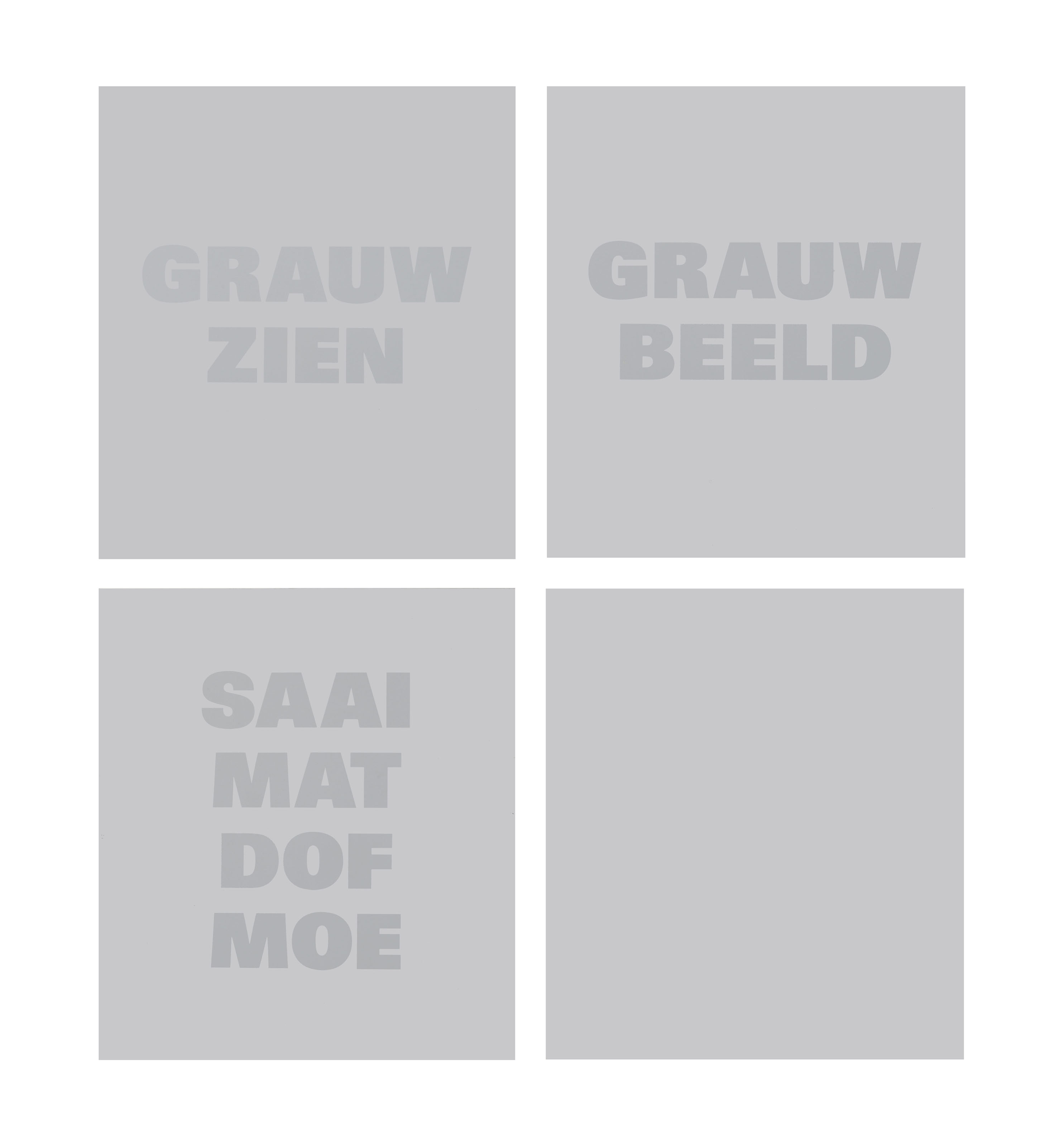 Grauw Zien, Grauw Beeld, Saai Mat Dof Moe (Bleak Look, Bleak Image, Drab Matte Dull Tired)