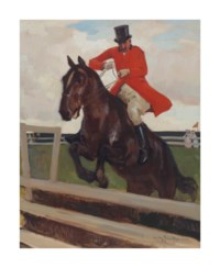 A jumping jockey