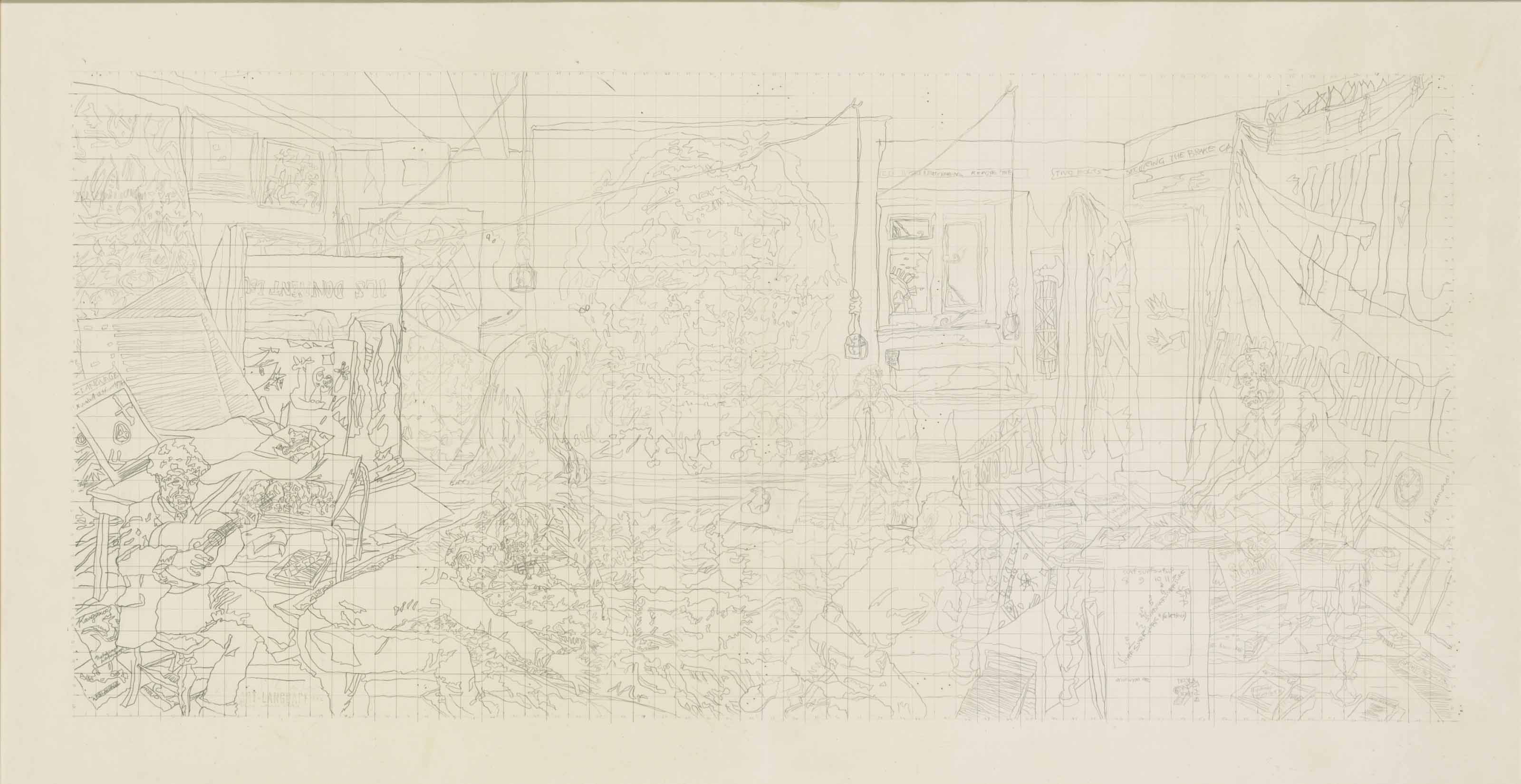 Index: The Studio at 3 Wesley Place painted by Mouth (I) Drawing (ii)