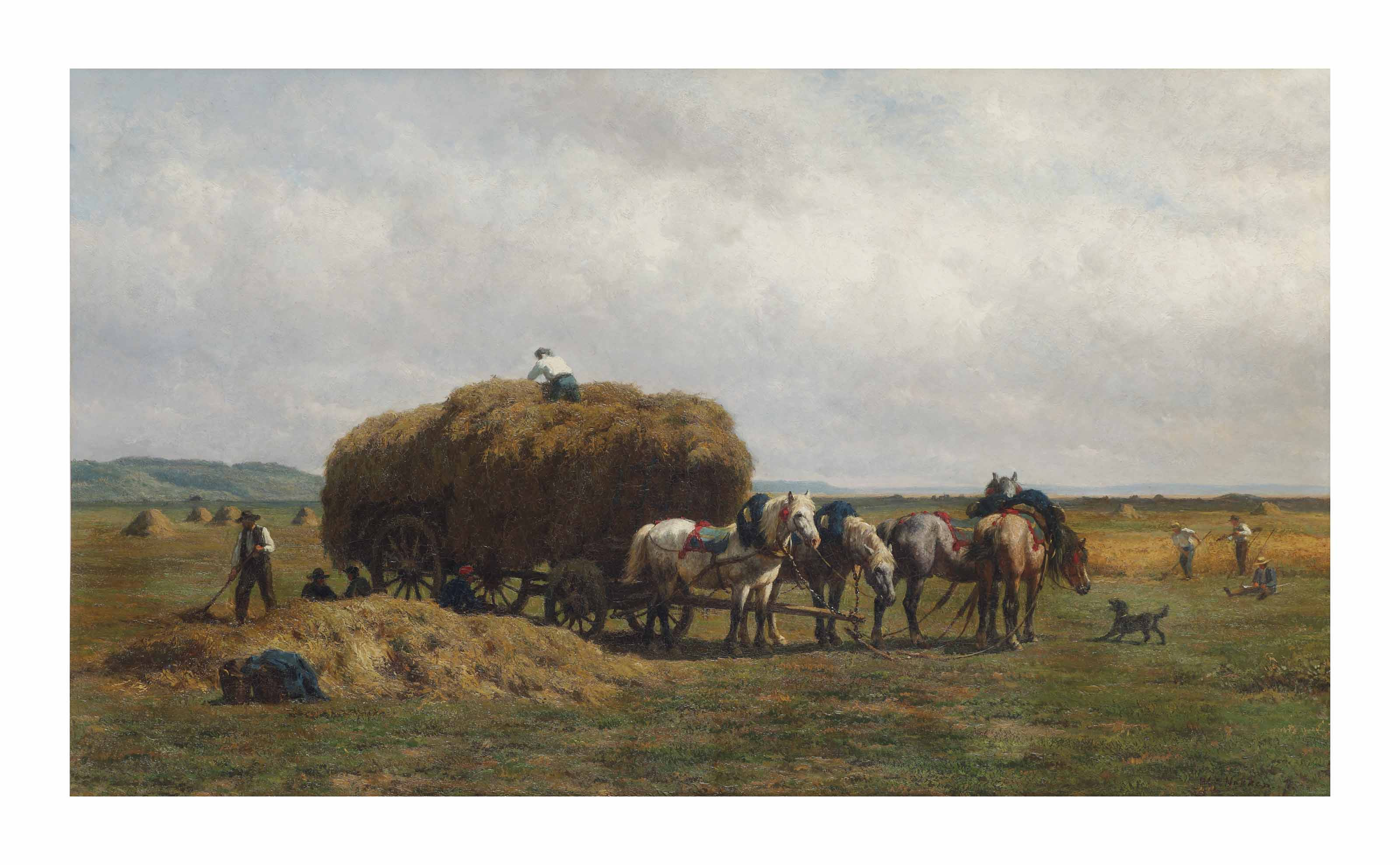 Loading the hay wagon