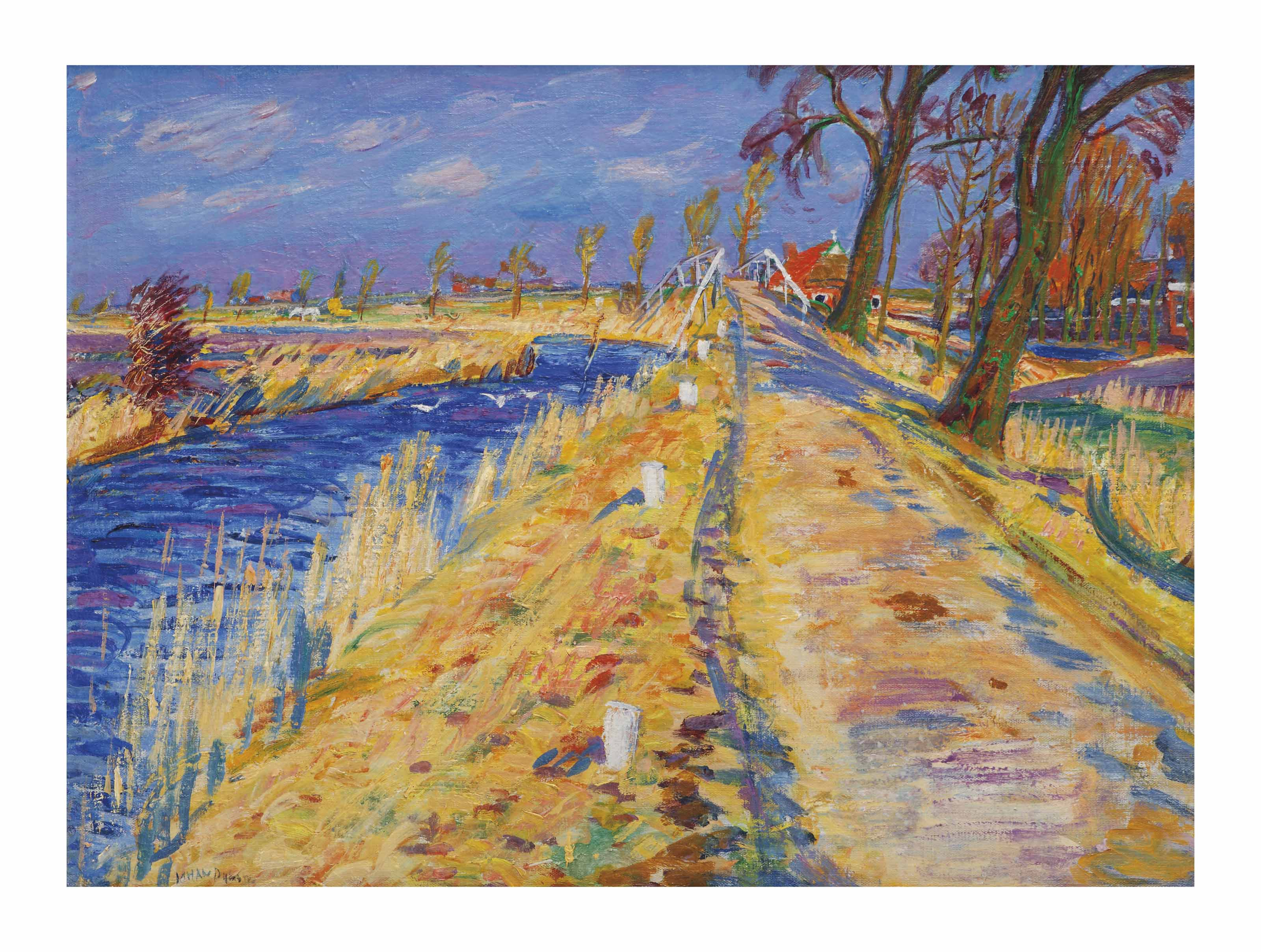 Landscape near Onderdendam (recto); Ameland (verso)