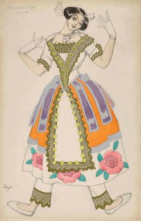 Costume design for 'La nuit ensorcelée': Mireille