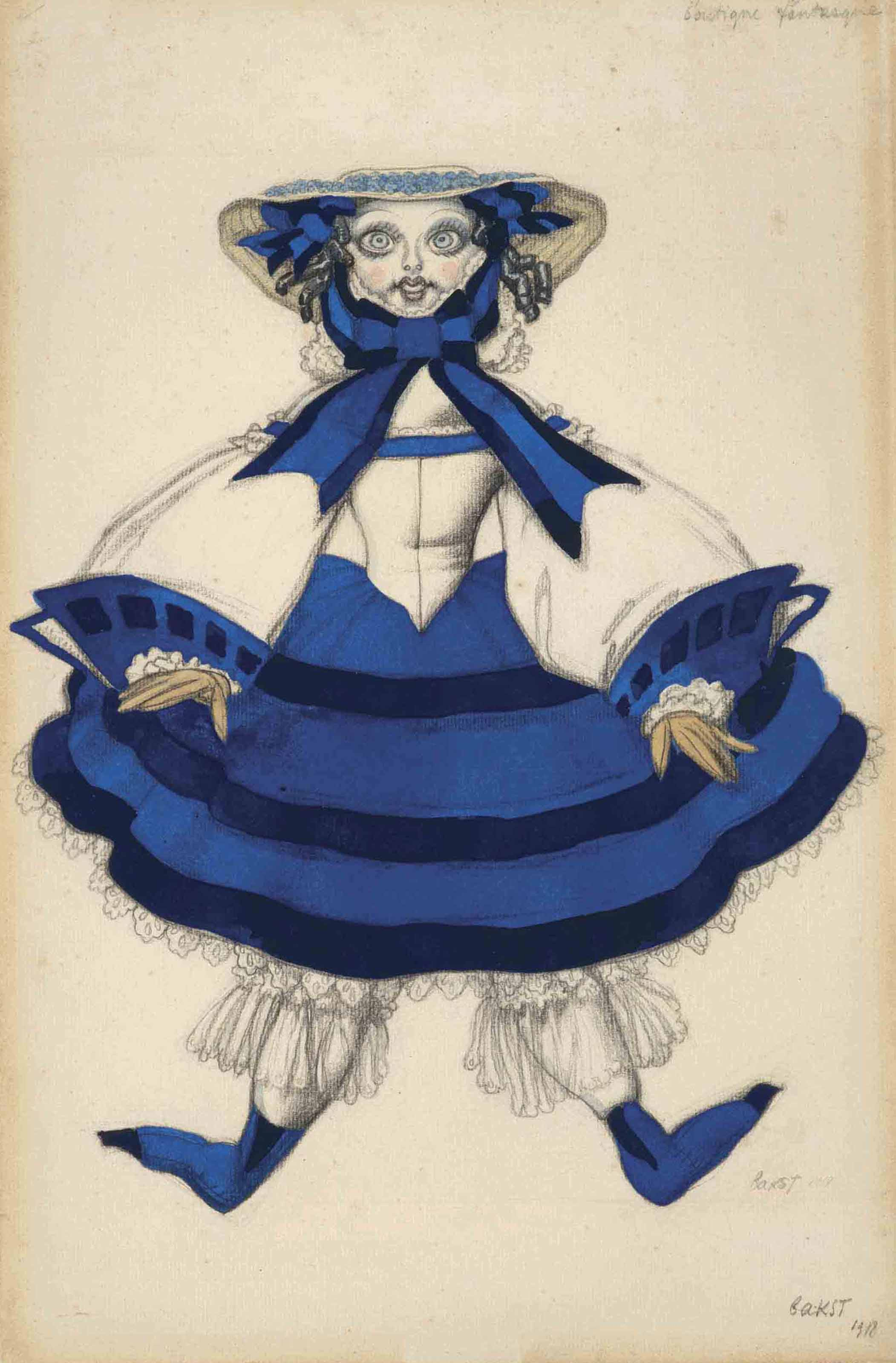 Costume design for 'La Boutique Fantasque': une poupée française