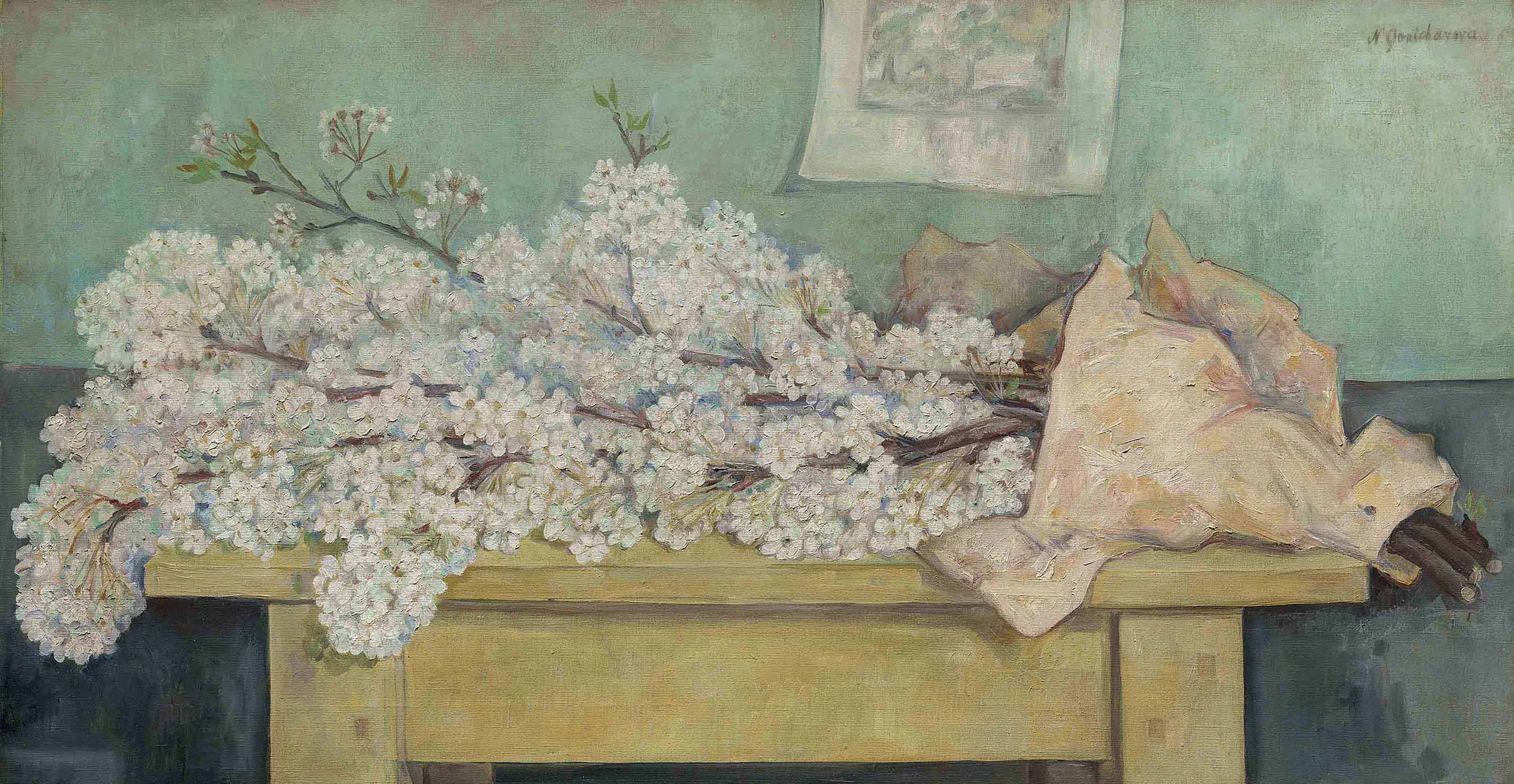 Still life with apple blossom