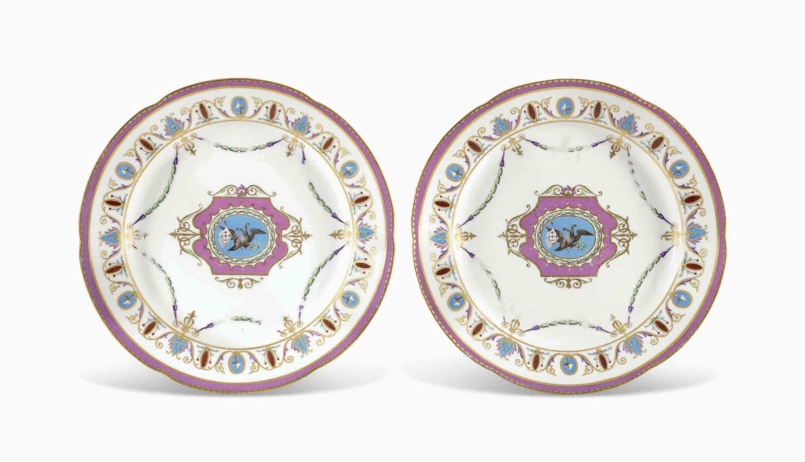 Lot 374  sc 1 st  Christie\u0027s & TWO PORCELAIN PLATES FROM THE YACHT SERVICE | BY THE IMPERIAL ...