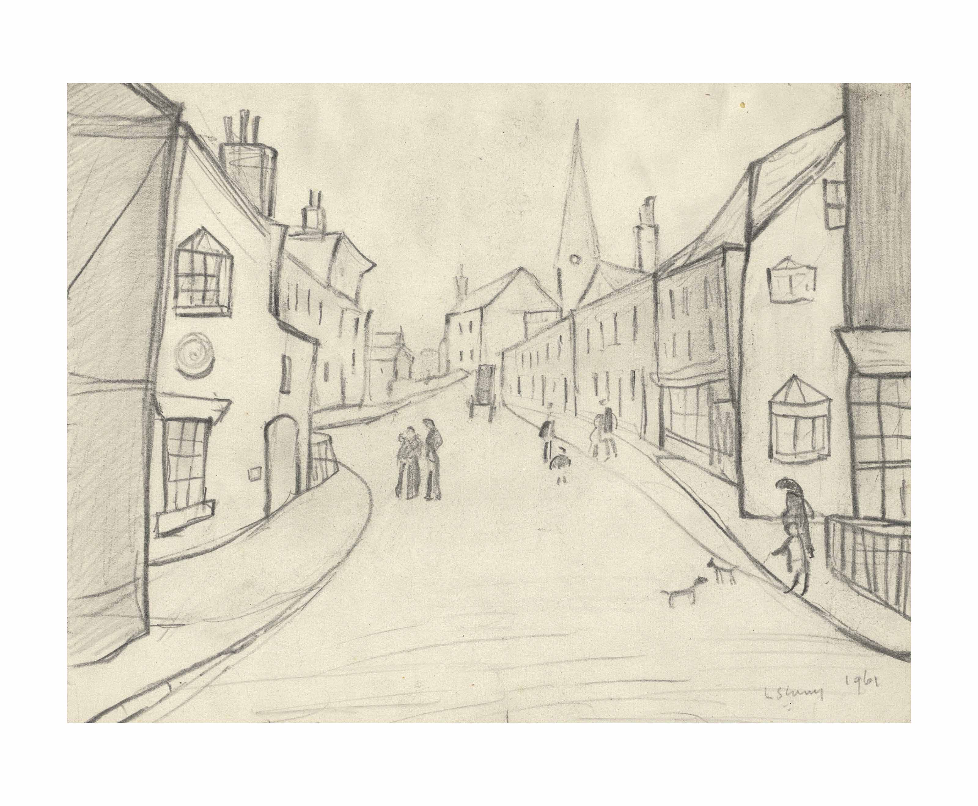 Laurence Stephen Lowry, R.A. (1887-1976)   Street Scene, Berwick ...