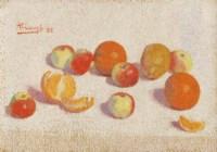 Nature morte aux pommes et aux oranges