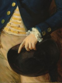 Portrait of Thomas Brooke (?1755-1820), three-quarter-length, in a green frock coat, resting by a tree in wooded landscape; and Portrait of Sir Richard Brooke, 5th Bt. (1753-1795), three-quarter-length, in a yellow striped waistcoat and blue frock coat, in a wooded landscape