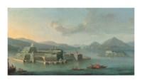 Lake Maggiore with Isola Bella, and Isola dei Pescatori beyond