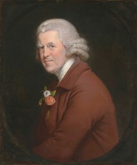 Portrait of Old John, Head Waiter at the King's Head Inn in Derby, half-length, in a painted oval