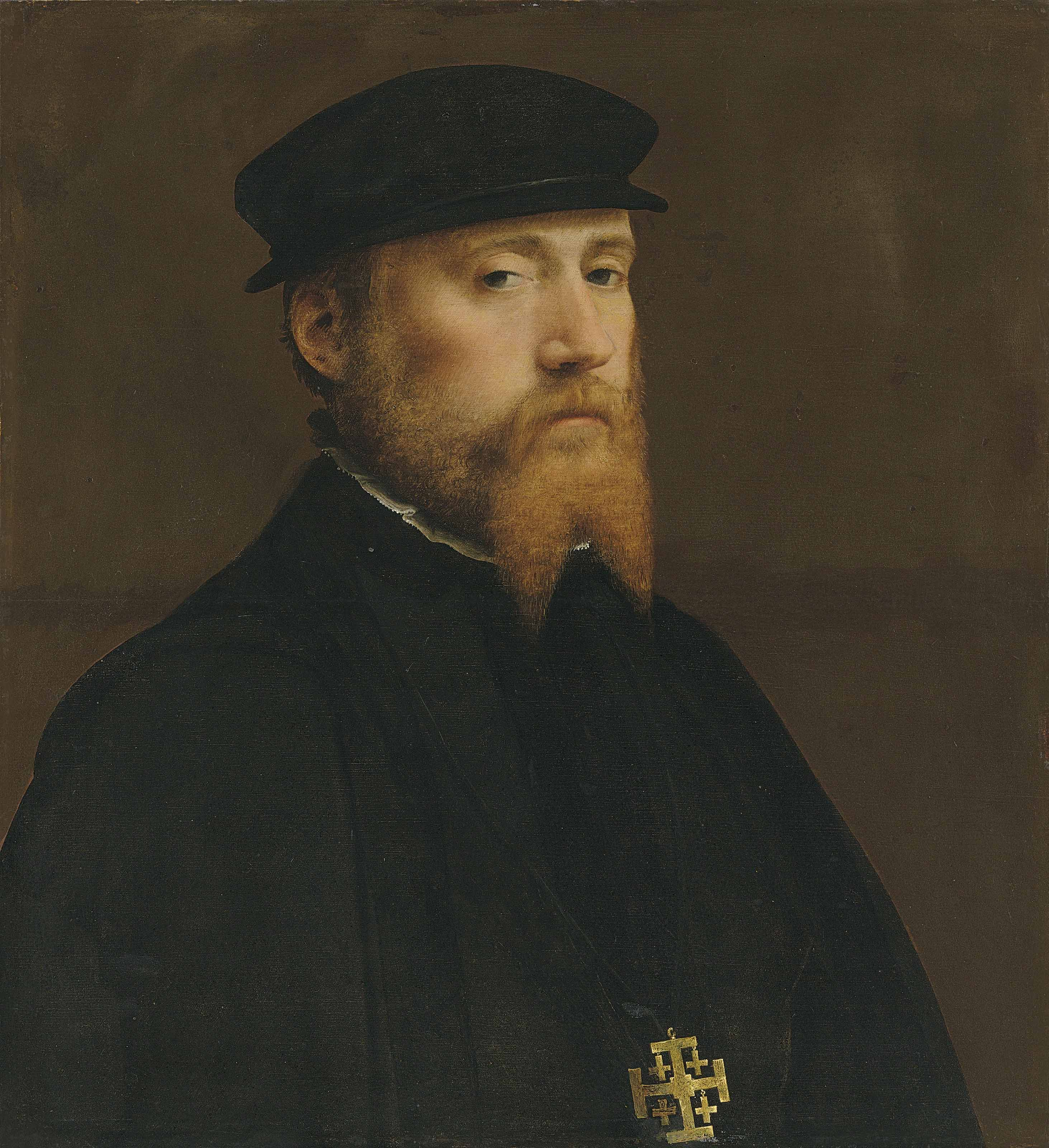Portrait of a Knight of the Jerusalem Brotherhood, possibly the Utrecht Brotherhood of the Holy Sepulchre, bust-length