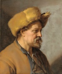 A man in a fur hat