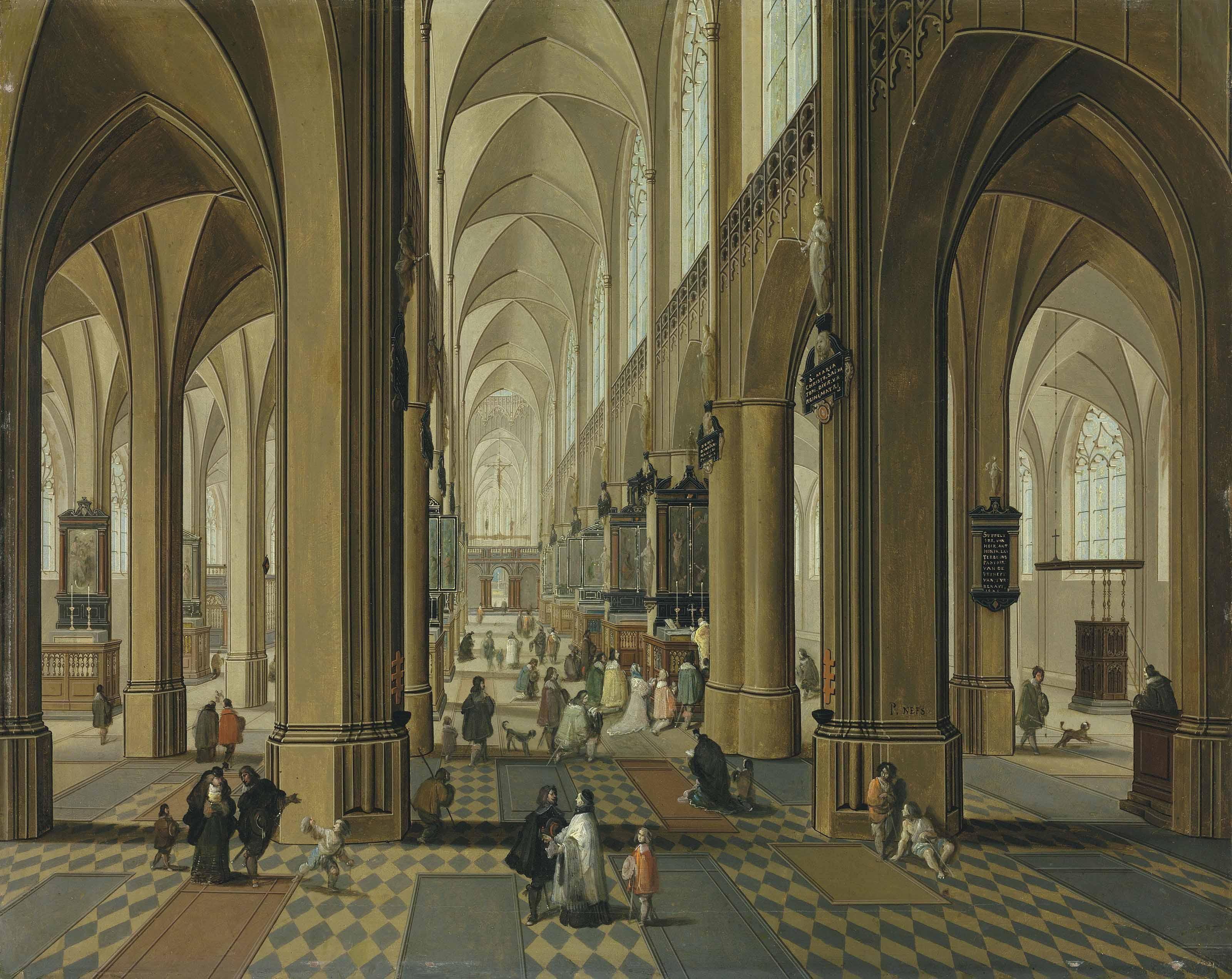 Pieter Neefs II (Antwerp 1620-after 1685) and Follower of Frans Francken II