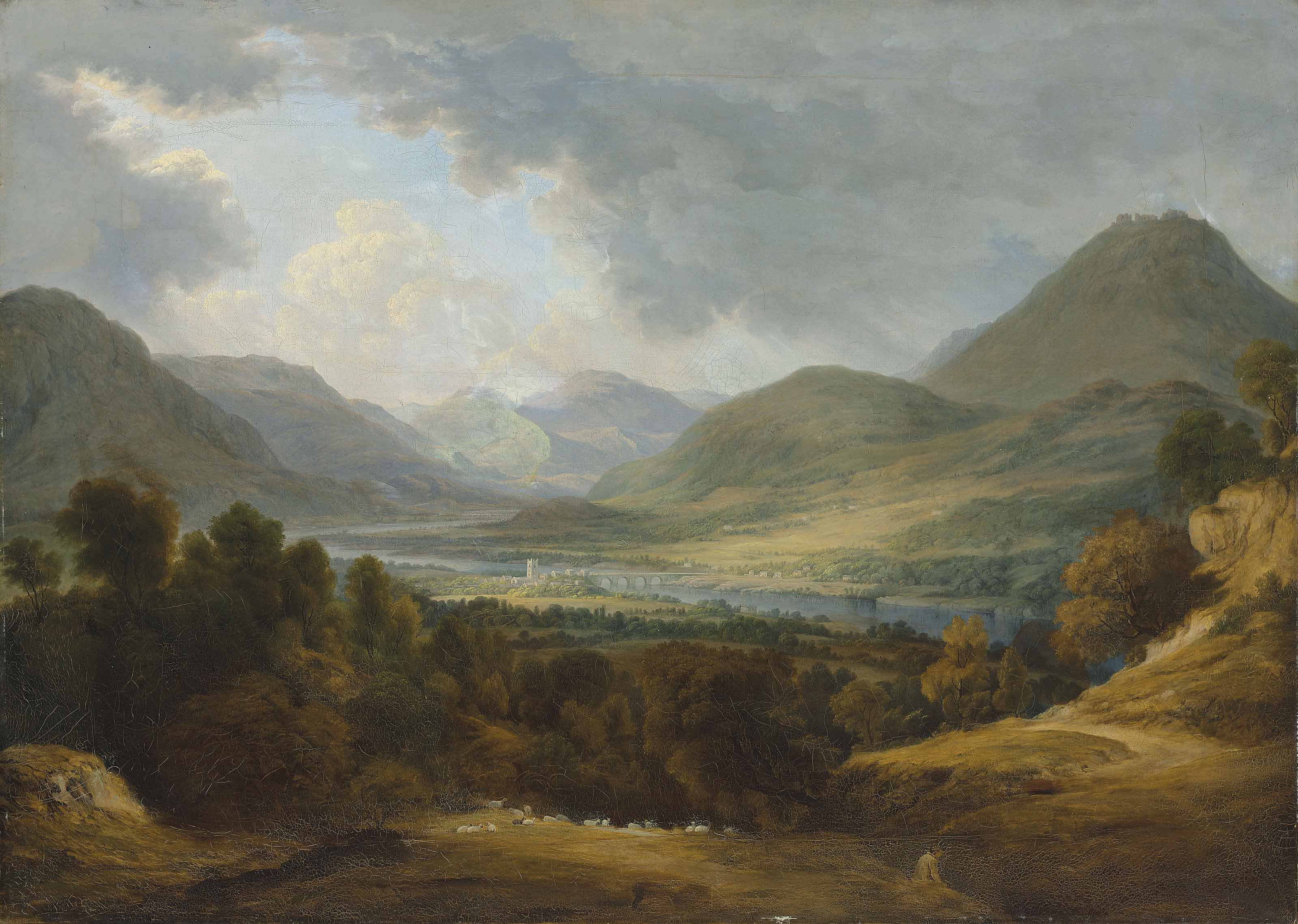 View of Llangollen, Wales