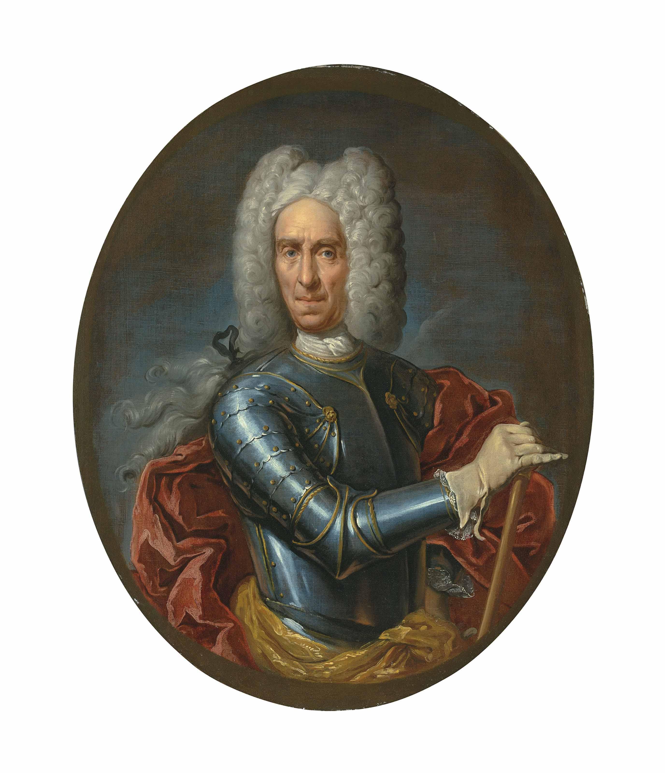 Portrait of Johann Matthias von der Schulenburg (1661-1747), half-length, in armour