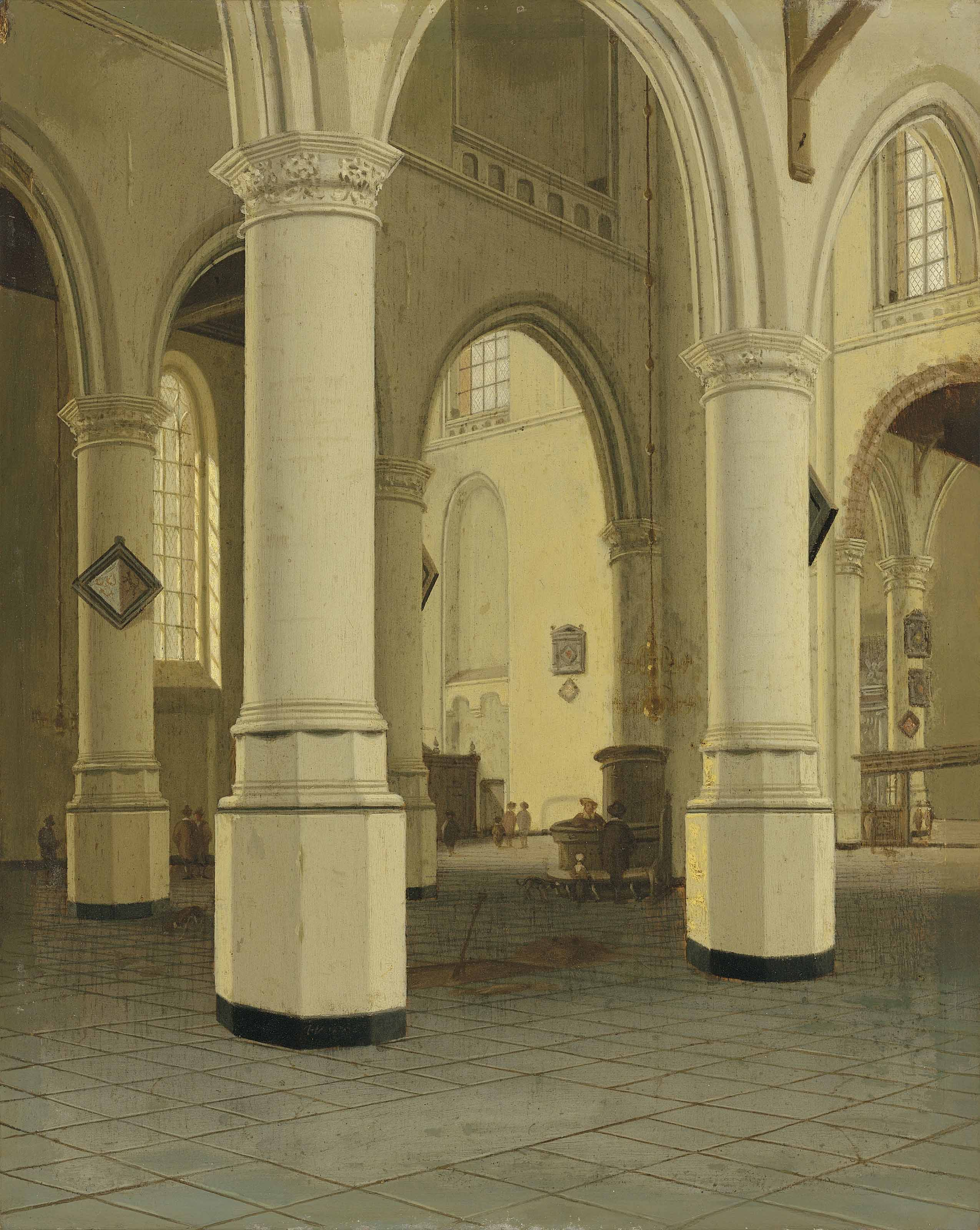 Interior of the Nieuwe Kerk in Delft