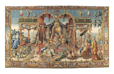 A BERLIN CHINOISERIE TAPESTRY