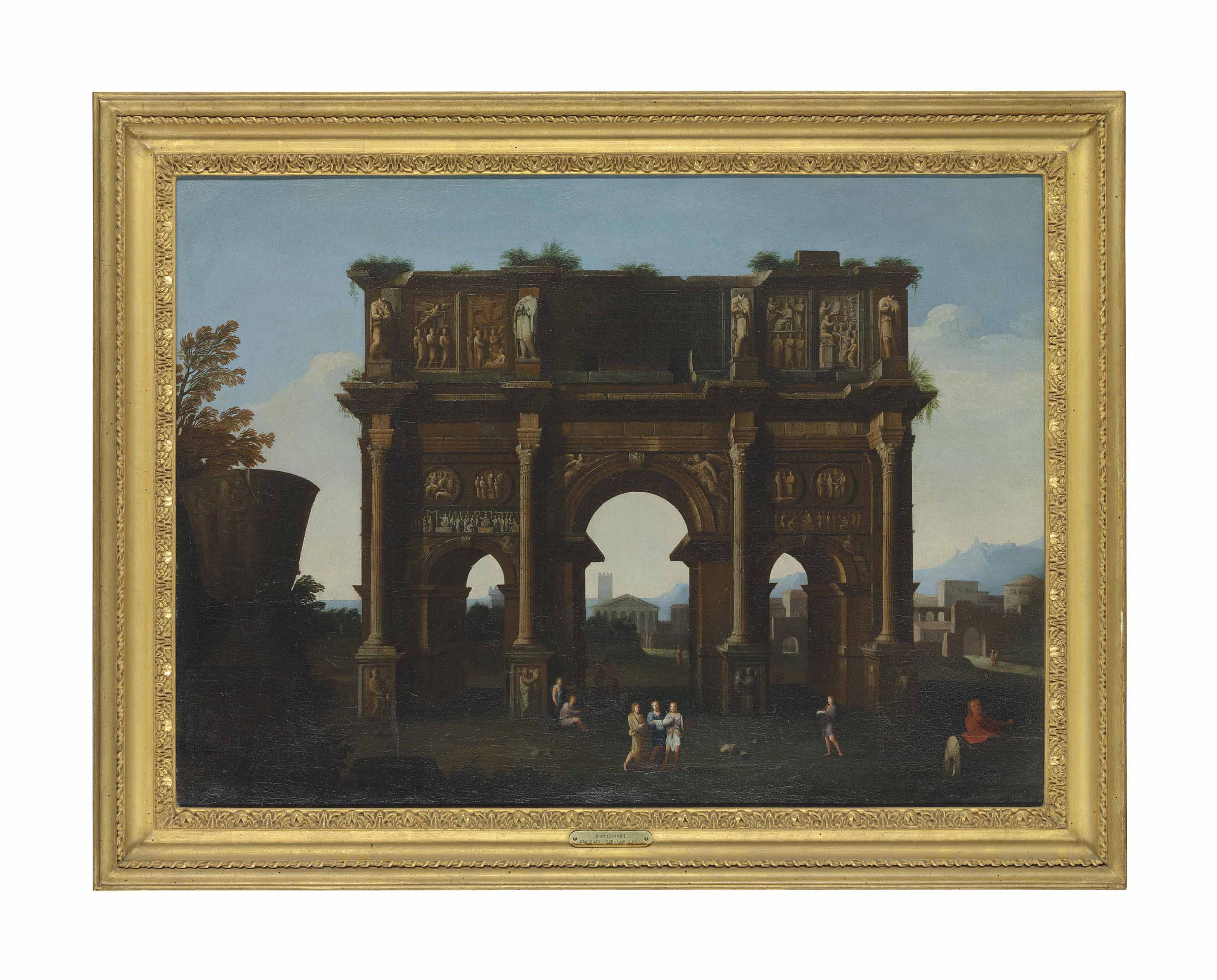 An architectural capriccio with the Arch of Constantine