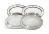 A SET OF FOUR GEORGE III SILVER MEAT-DISHES