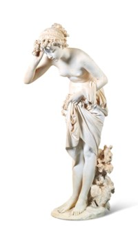AN ITALIAN MARBLE FIGURE OF FLORA