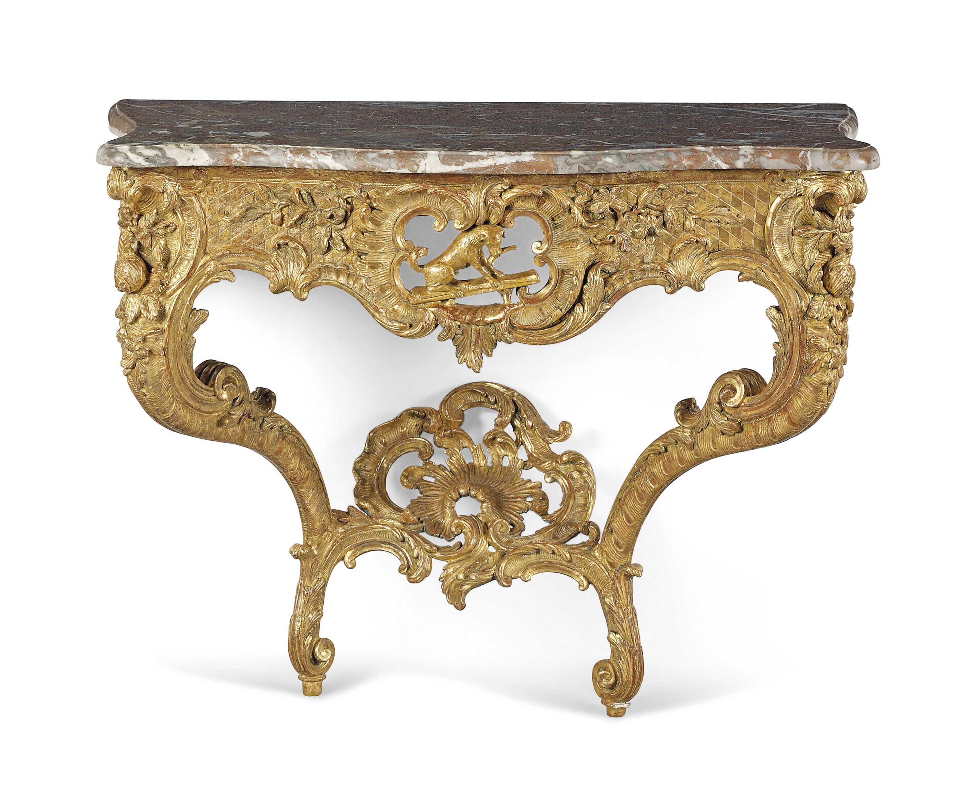 A LOUIS XV GILTWOOD CONSOLE TABLE | CIRCA 1740 | console table ...