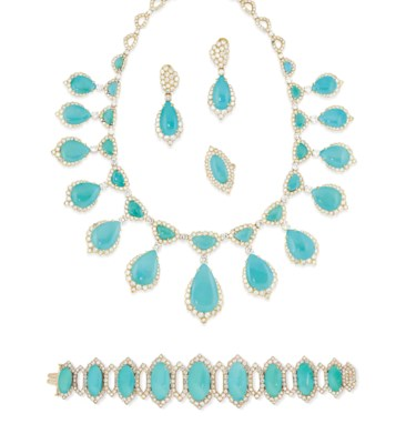 A TURQUOISE AND DIAMOND SUITE