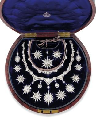 A VICTORIAN DIAMOND STAR PARUR