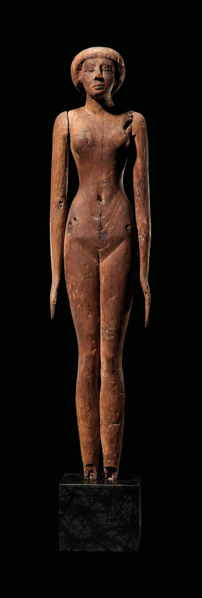 A LARGE EGYPTIAN WOOD FEMALE F