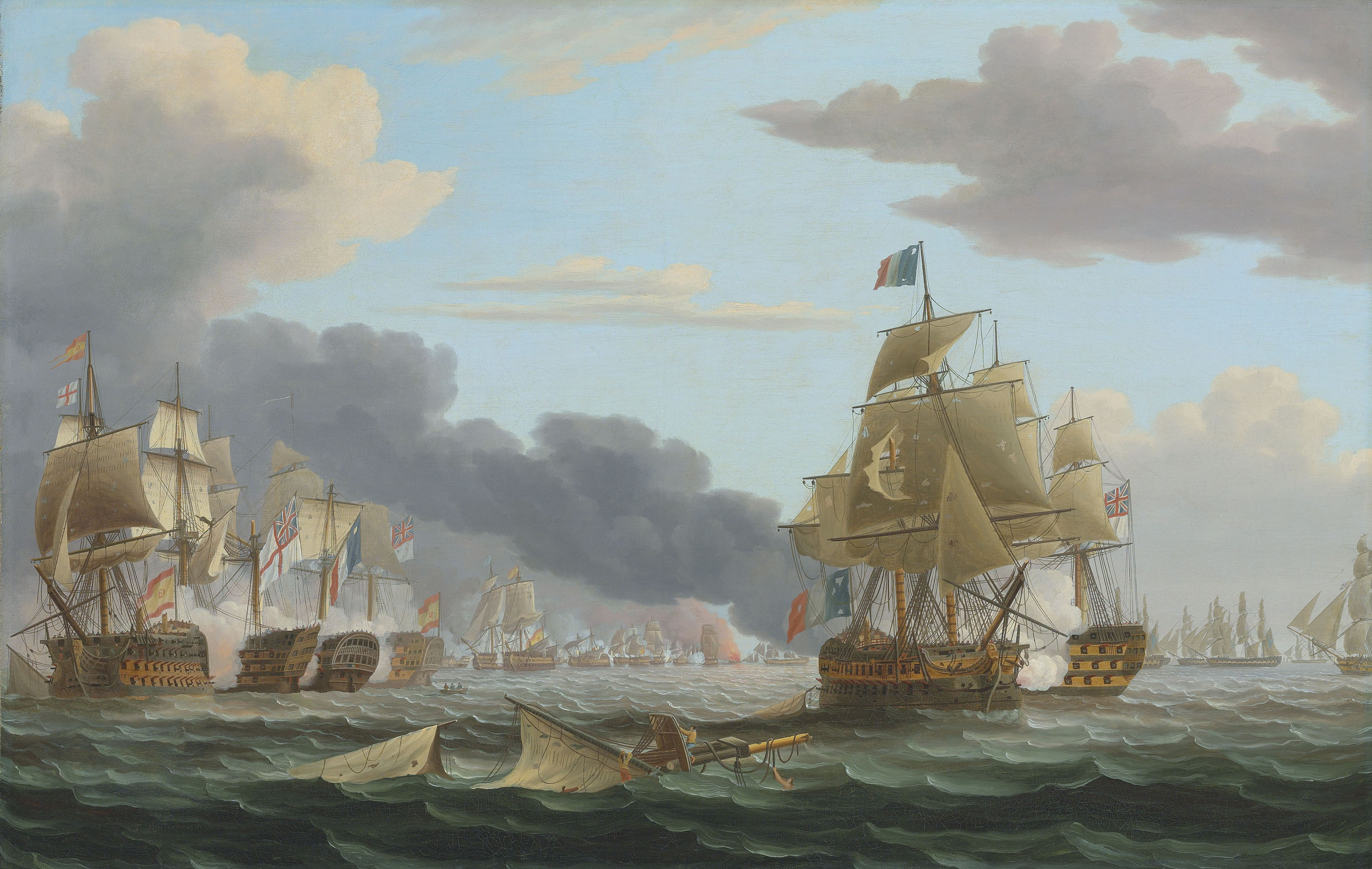 The Battle of Trafalgar, 21 October 1805: the height of the action