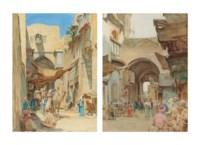 The Bab el Zuela, Cairo; and A Souk