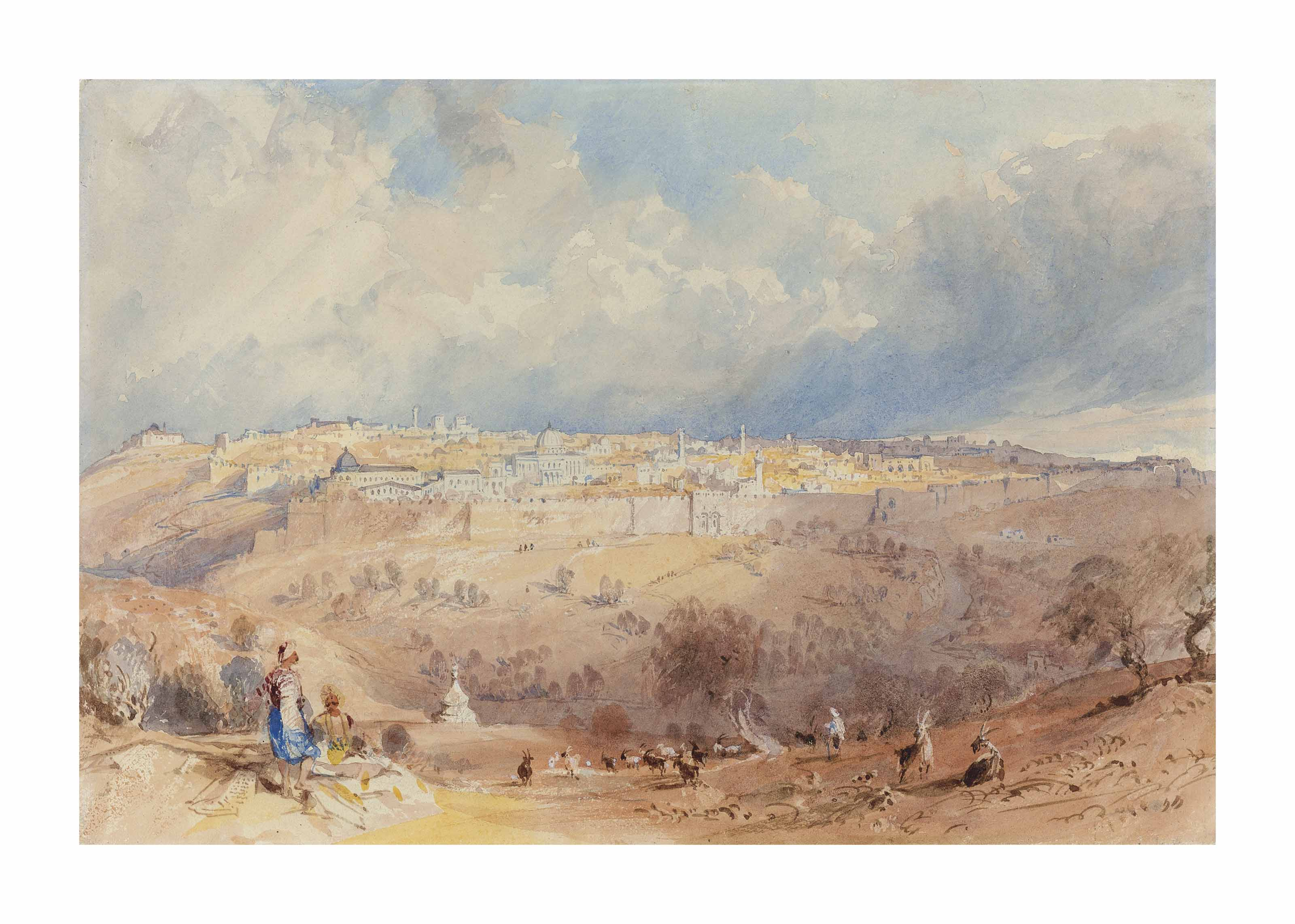 Jerusalem from the Mount of Olives, by the Tomb of Absalom