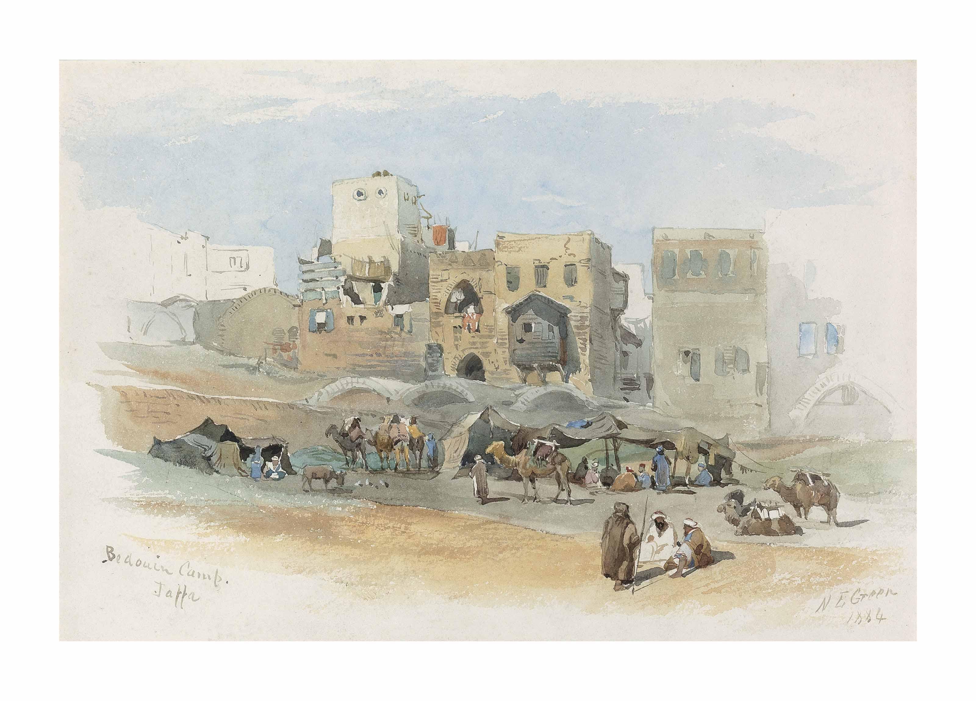 A Bedouin camp, Jaffa