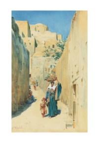 A sunlit street in Jerusalem