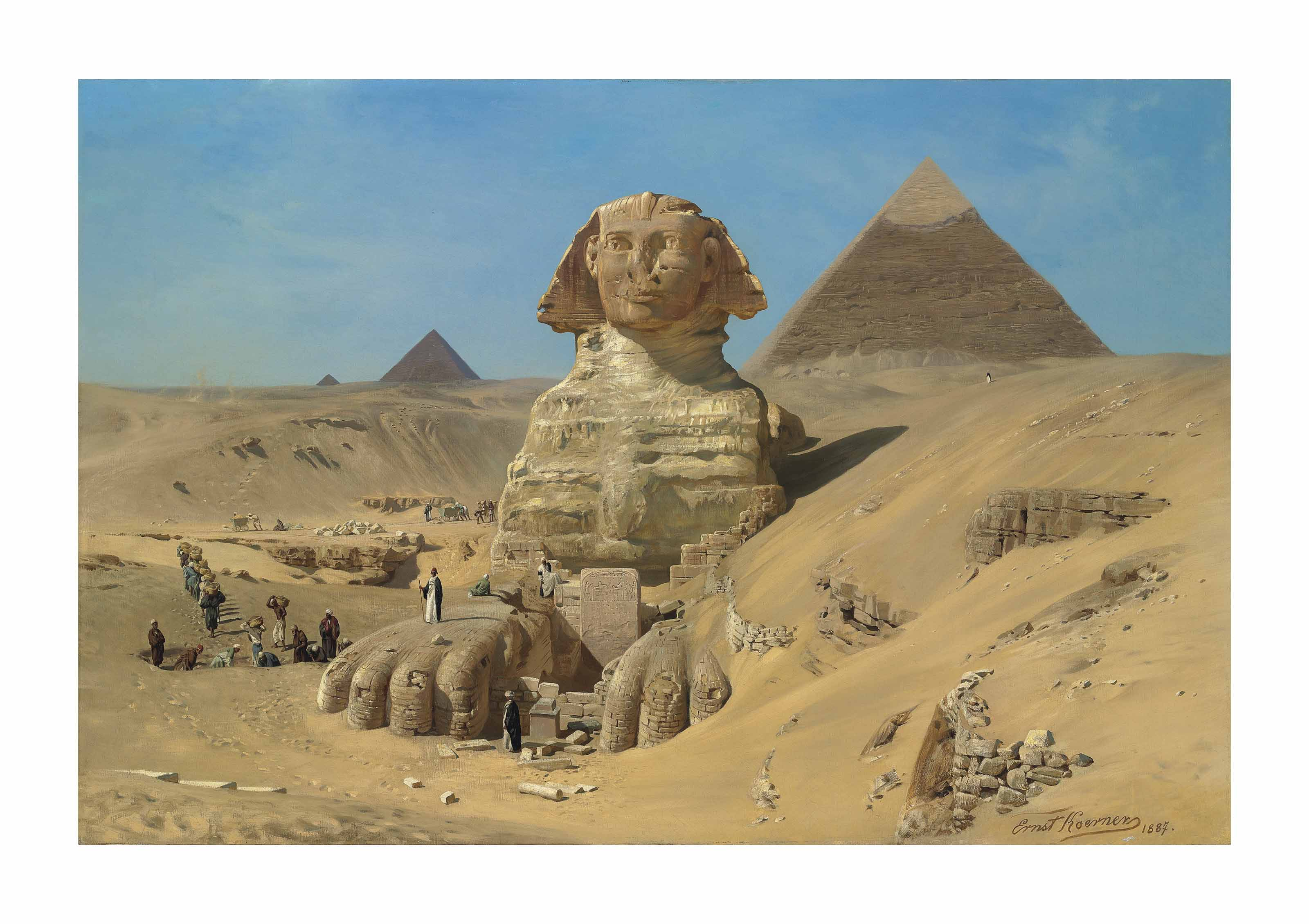 The excavation of the Sphinx