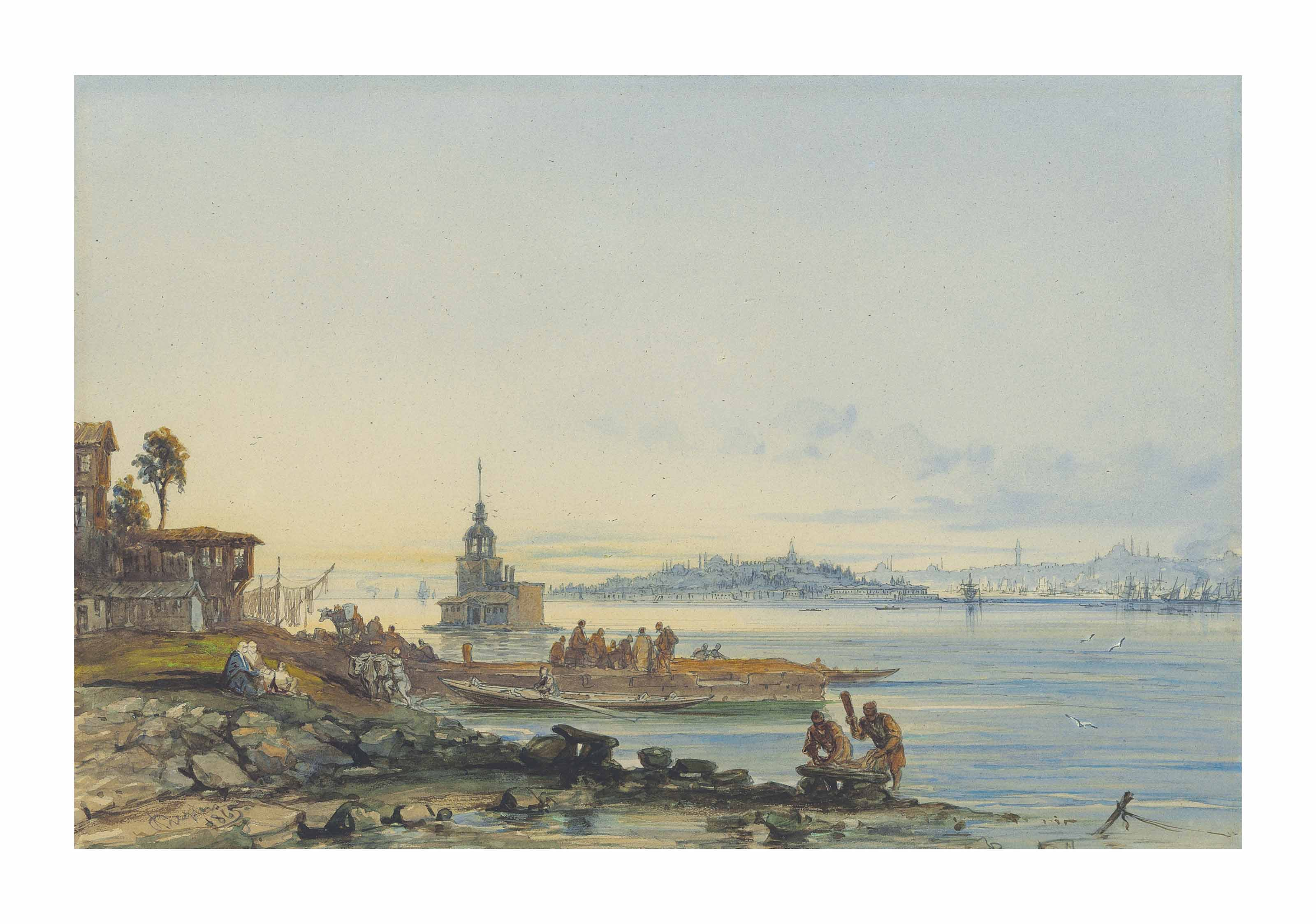 The Tower of Leander (Kiz Kulesi), Constantinople
