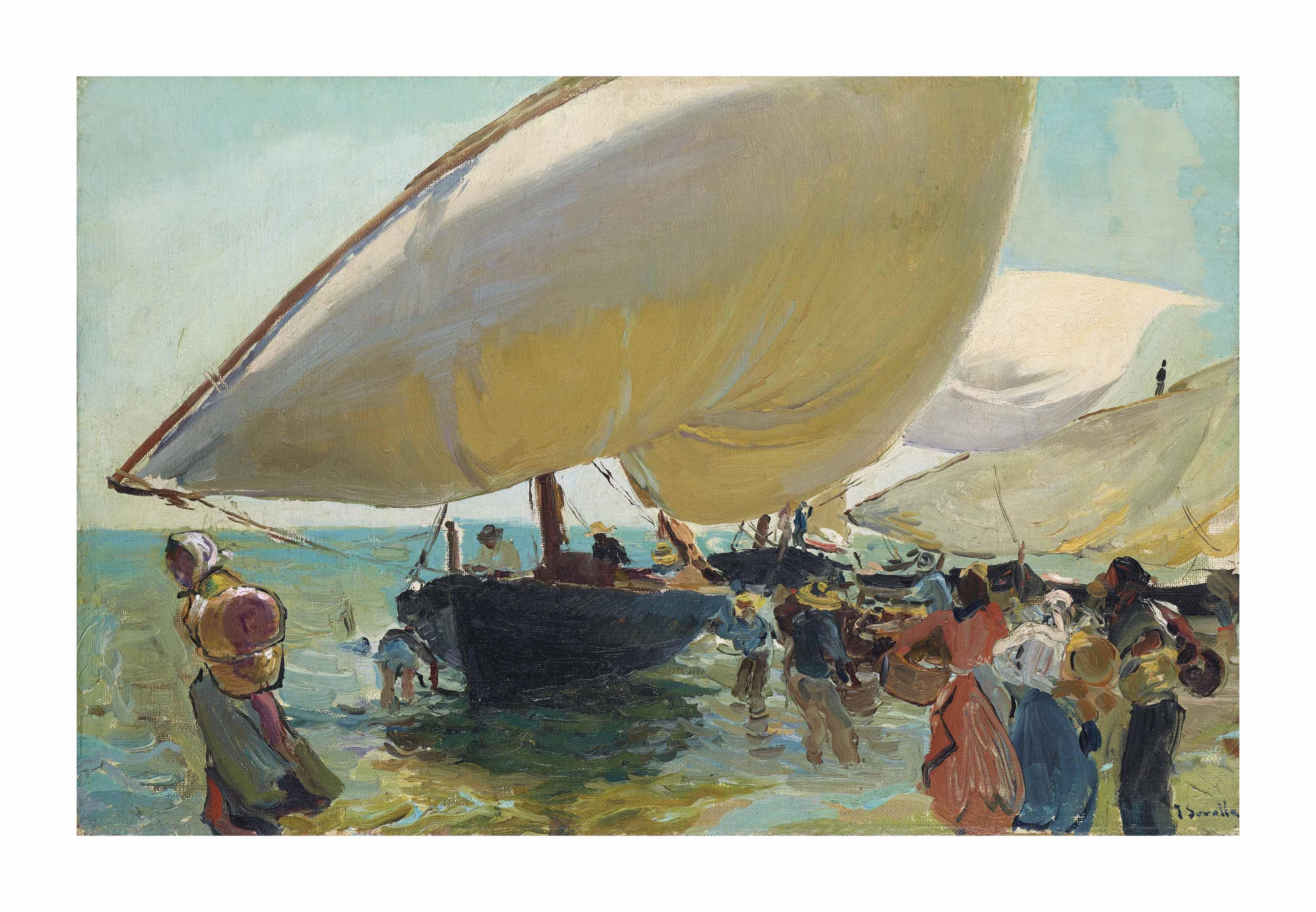 Llegada de las barcas