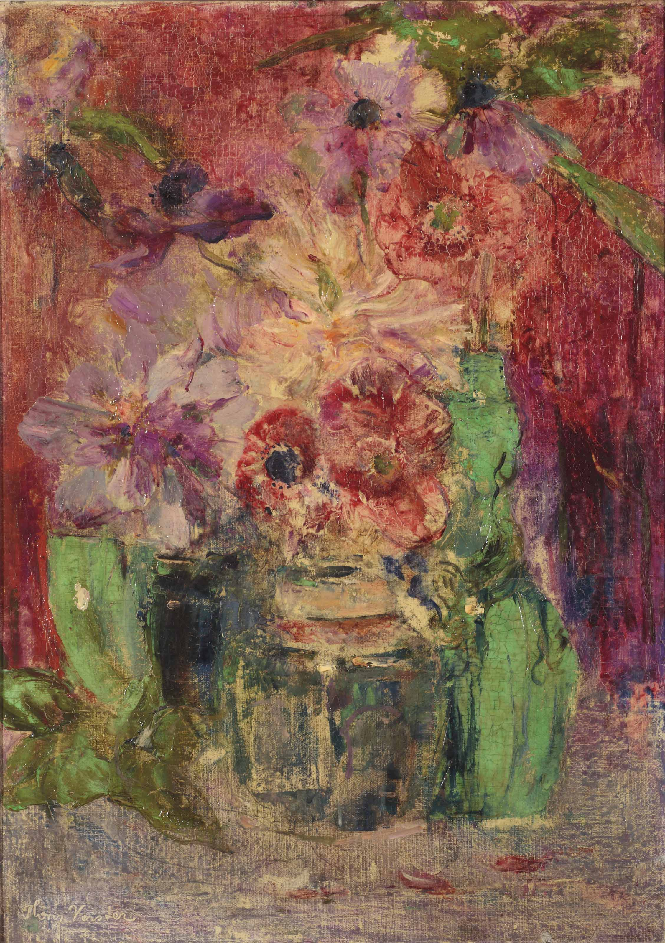 Poppies in a ginger jar