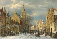 A winter's day in a sunlit street