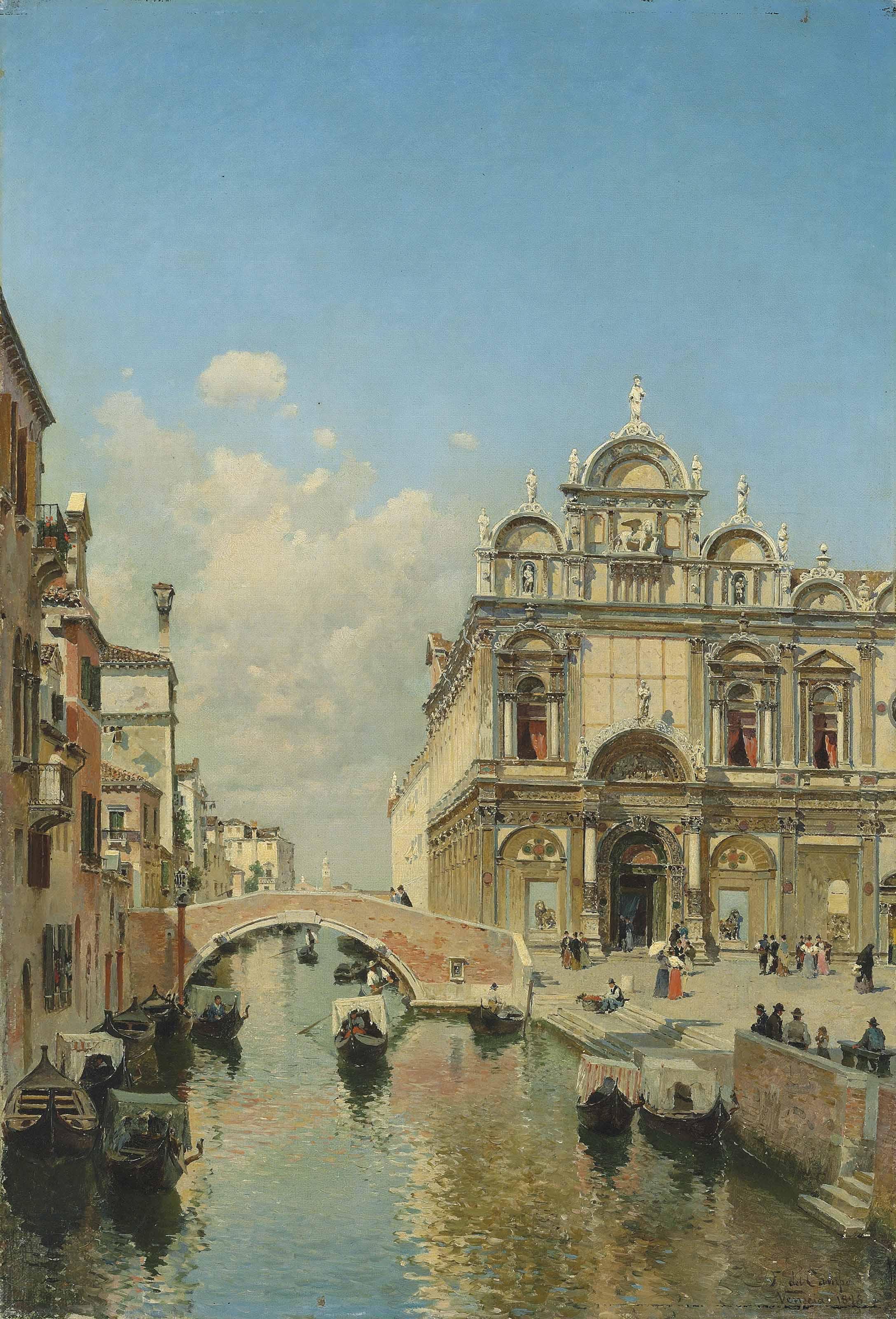 The Ospedale Civile in the Scuola Grande di San Marco and the Basilica of SS. Giovanni e Paolo (San Zanipolo), Venice