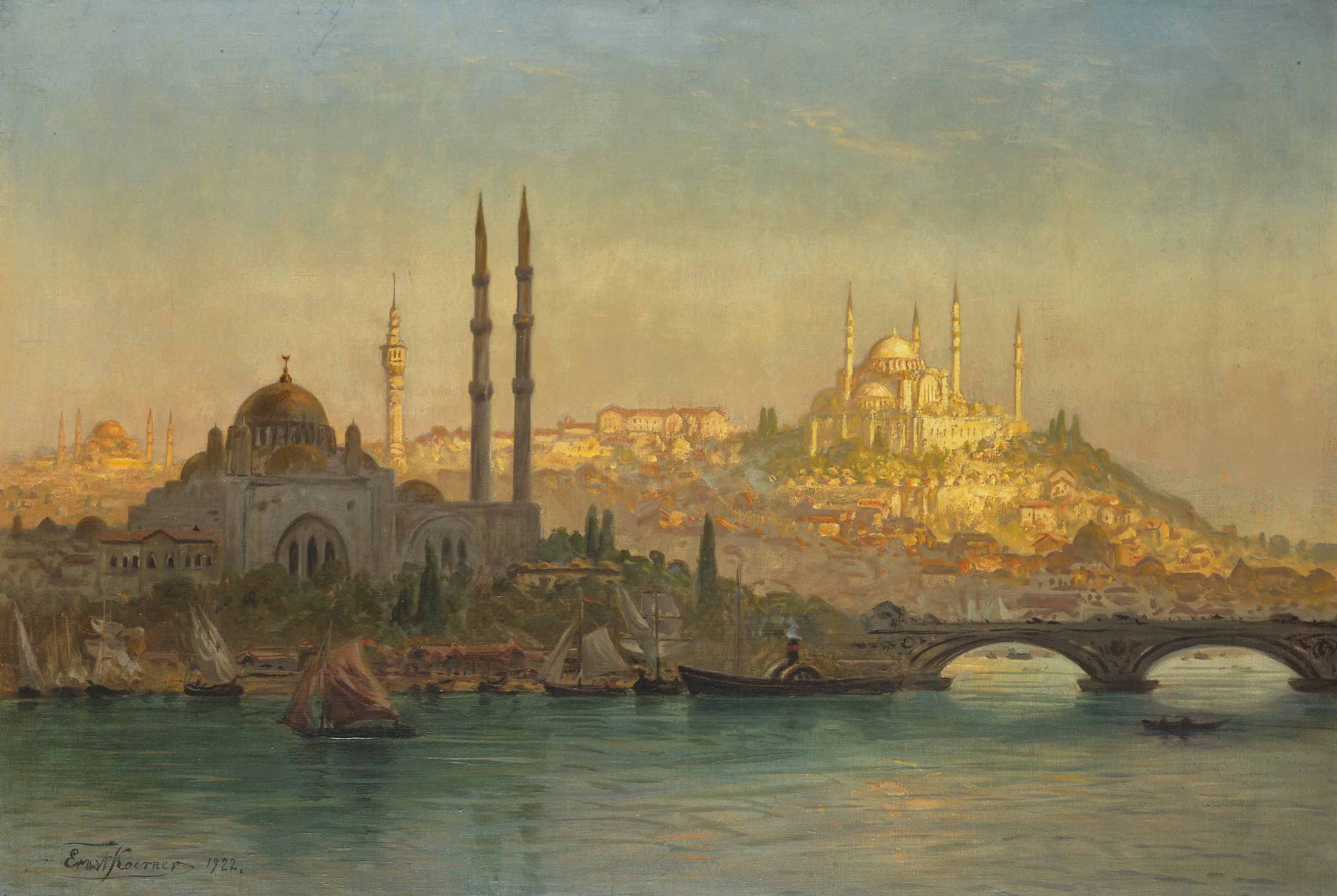 Istanbul, Valide and the Suleymaniye mosque