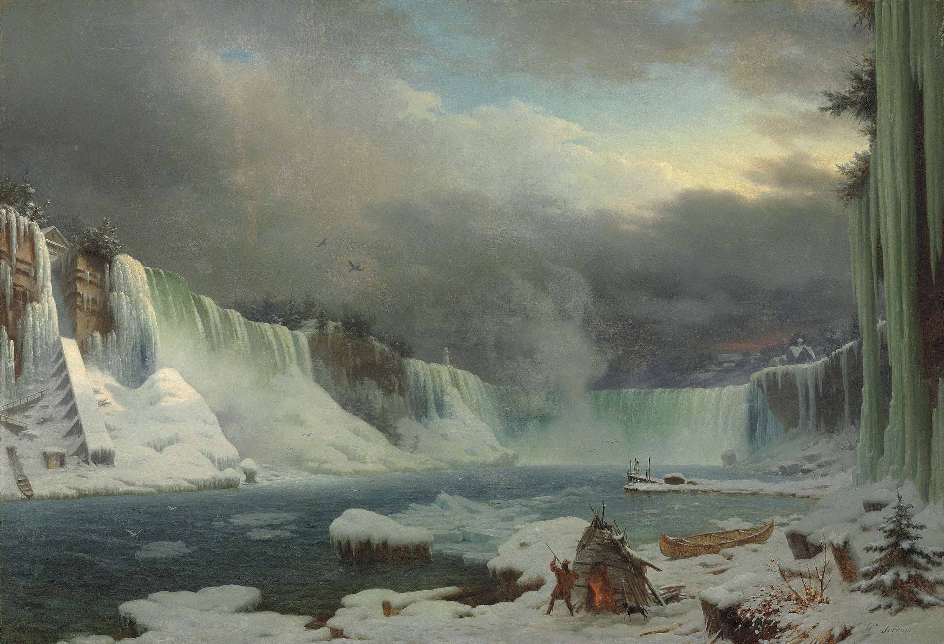 The Niagara Falls in winter