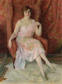 Portrait of the artist's wife Antonie Erhardt (1894-1969)